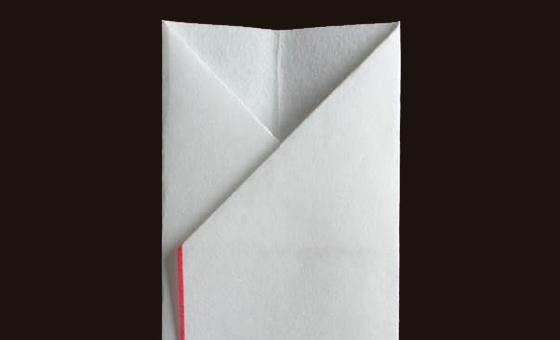 懐紙と千代紙で箸袋を作る 4