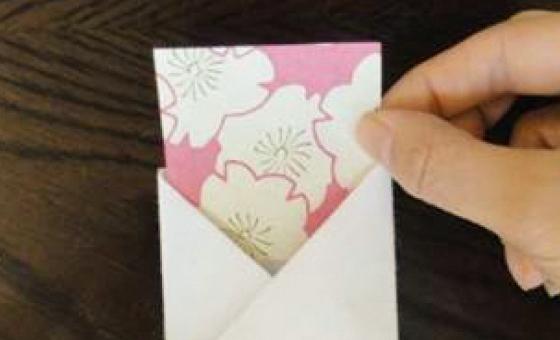 懐紙と千代紙で箸袋を作る 5