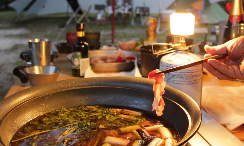 【しっぽり専用】大人のアウトドア鴨鍋