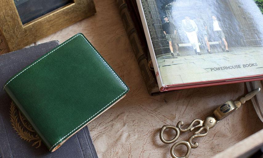 オールレザーの二つ折り財布