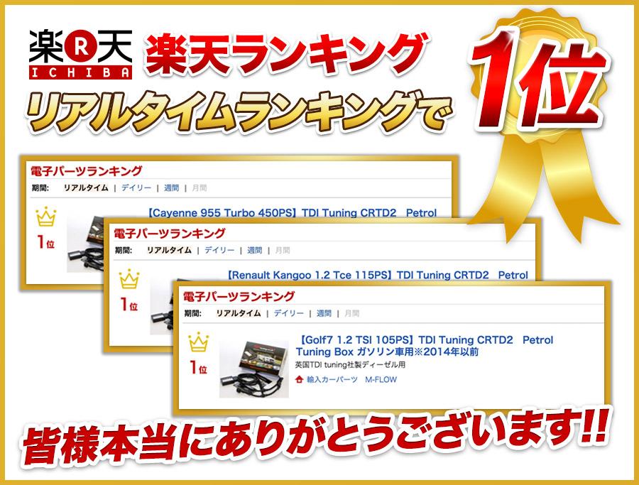 TDI-楽天ランキング1位獲得!!