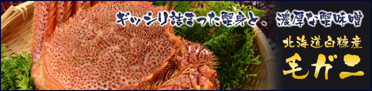 ぎっしり詰まった蟹身と濃厚な蟹味噌、北海道白糠産の毛ガニ