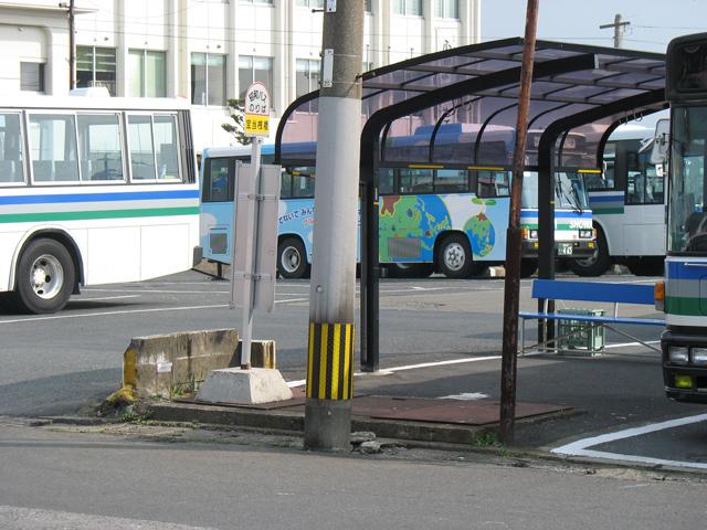 博多からの宝当桟橋バス停昇降場