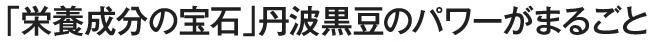 丹波篠山産の最高級品「丹波黒大豆」使用