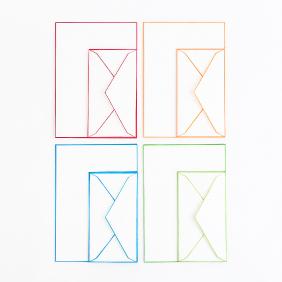 木版摺り色ふちレターセット