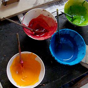 木版摺りの色彩