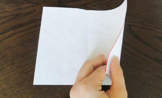 懐紙と千代紙で箸袋を作る 1