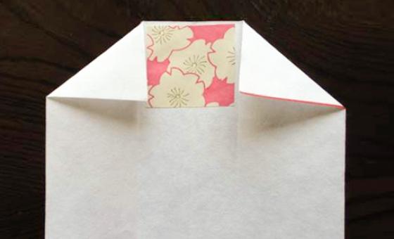 懐紙と千代紙で箸袋を作る 6