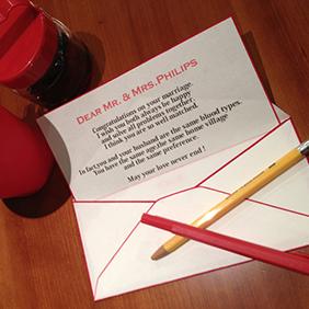 和紙の便箋でお手紙を書く