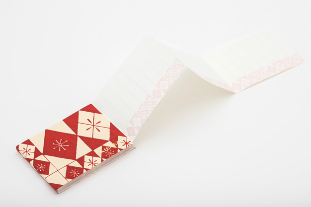 蛇腹メモグラム表紙と中紙