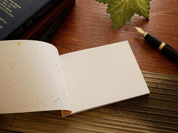 和綴じメモ帳を開いた状態