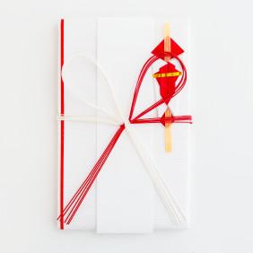 檀紙たとう(小) 紅白花結び