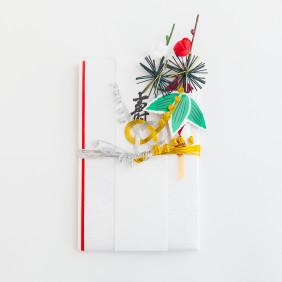 檀紙たとう(小)淡路結び 花のし付き