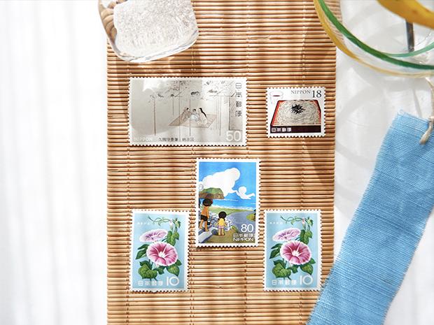 夏の切手と風鈴
