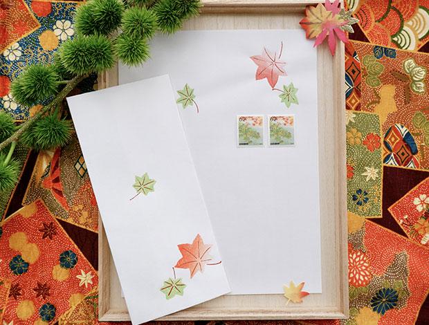 木版摺 ちらし便箋/紅葉