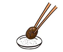 まずはヘルシーな脂をすいこんだ野菜をカナールの塩を付けたり、大根おろしにごまだれポン酢をかけたタレをからませてどうぞ。