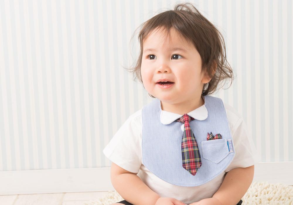 フォーマルスタイ 青×赤紺タータン長ネクタイ