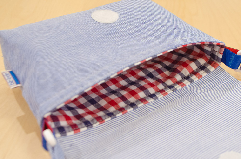 ポシェット(木馬・青)ー内側の布