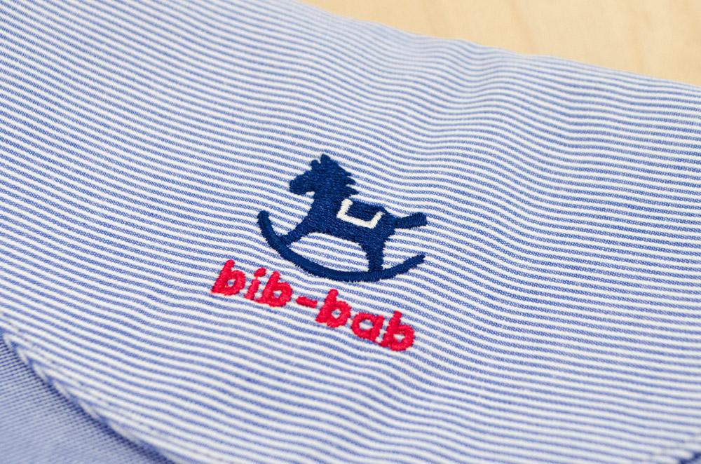 ポシェット(木馬・青)ー木馬の刺繍