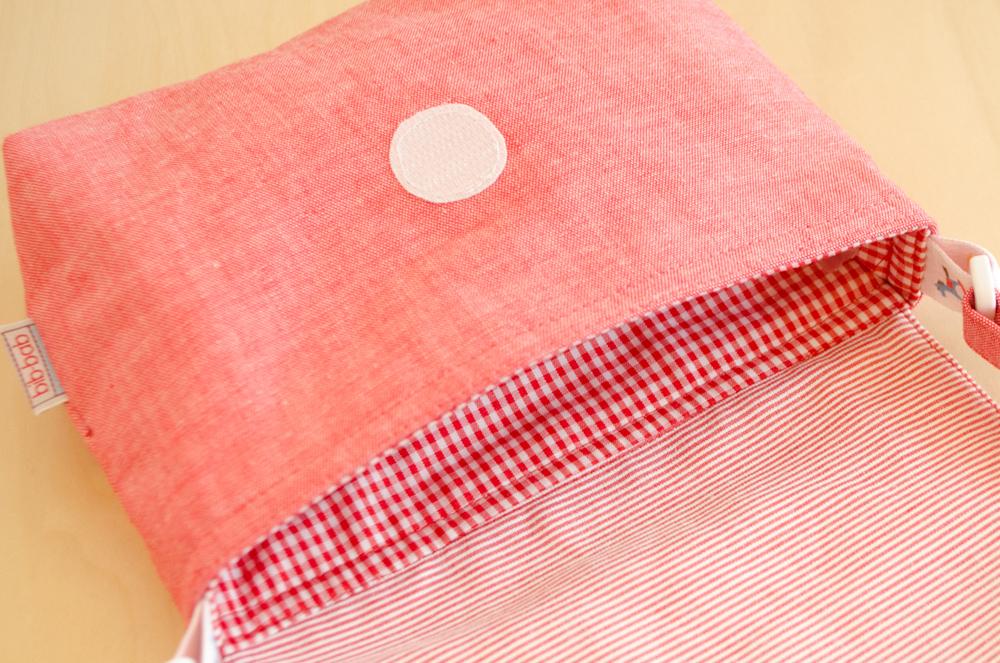 ポシェット(木馬・赤)ー内側の布