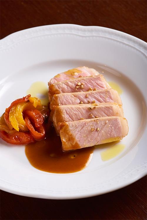 萬幻豚ロース肉のウィスキーソテー(1人分)