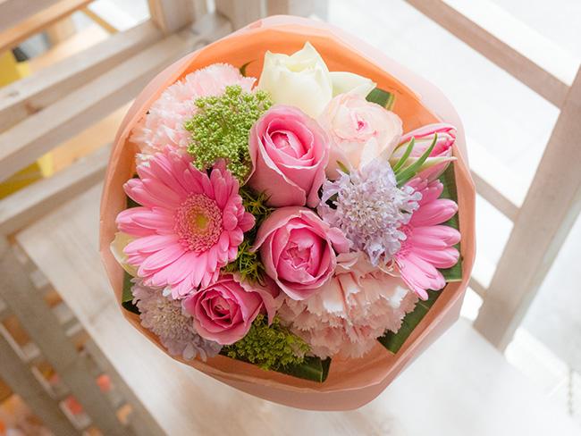 メッセージフラワー花束
