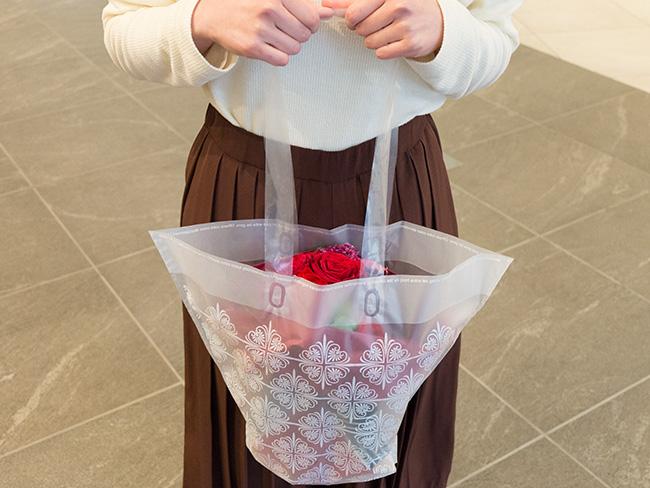 メッセージフラワー花束袋