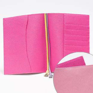 C205(Bunny Pink)x C200(Hot Pink)タッセル栞 C188(Lemon)とC212(Lilac)