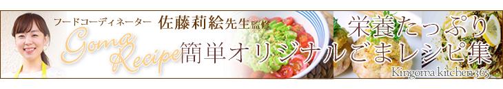 フードコーディネーター 佐藤莉絵さんの簡単オリジナルごまレシピ集