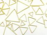 フレームパーツゴールド三角3サイズmix【0.9cm1.4cm2.6cm】各サイズ4個ずつ計12個レジンクラフト型枠チャームピアスイヤリングパーツ