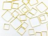 フレームパーツゴールド四角3サイズmix【0.8cm1.0cm1.4cm】サークル各サイズ4個ずつ計12個レジンクラフト型枠チャームピアスイヤリングパーツ