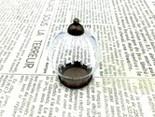 ガラスドーム広口型金古美アンティークネックレスペンダントトップ置き物パーツ