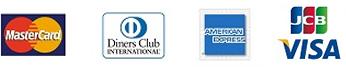 Master Card,JCB,VISA,American Express,Diners Club