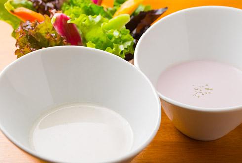 牛蒡スープ・紫芋スープ