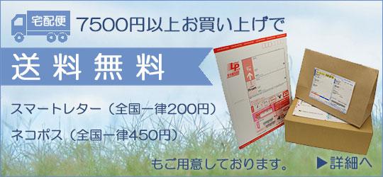 7500円以上で送料無料