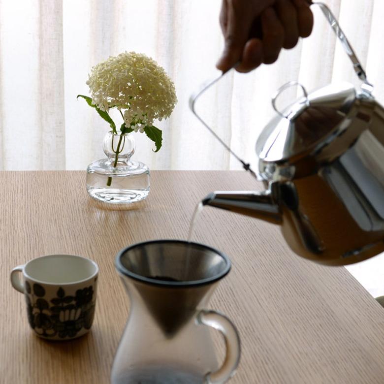 マリメッコ MARIMEKKO 花瓶 フラワーベース クリア 紫陽花 アナベル 北欧 フィンランド 手吹きガラス