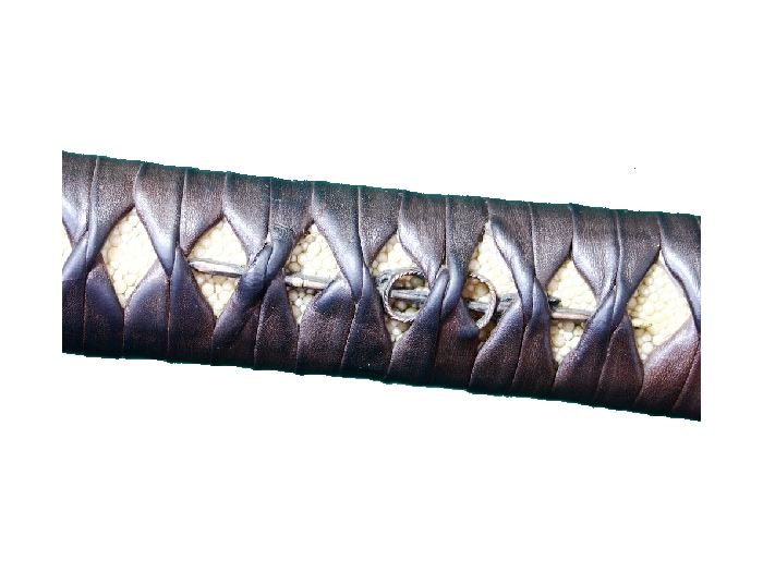 ガルーシャを使った日本刀の鞘
