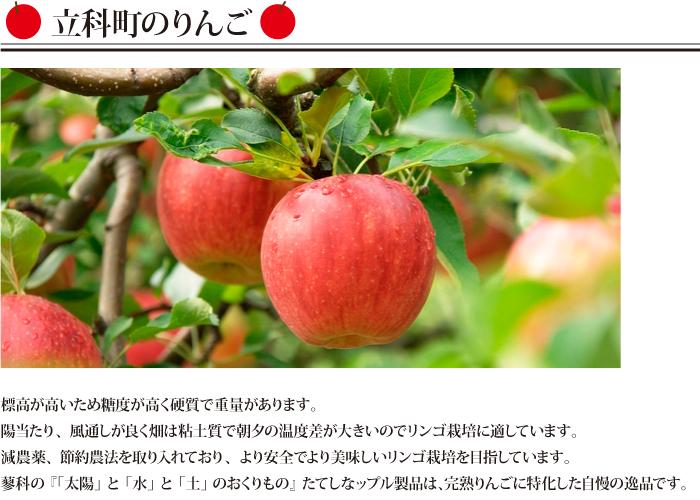 東信州 立科町 たてしなップル 果肉入り林檎ジュース ふじ&千秋