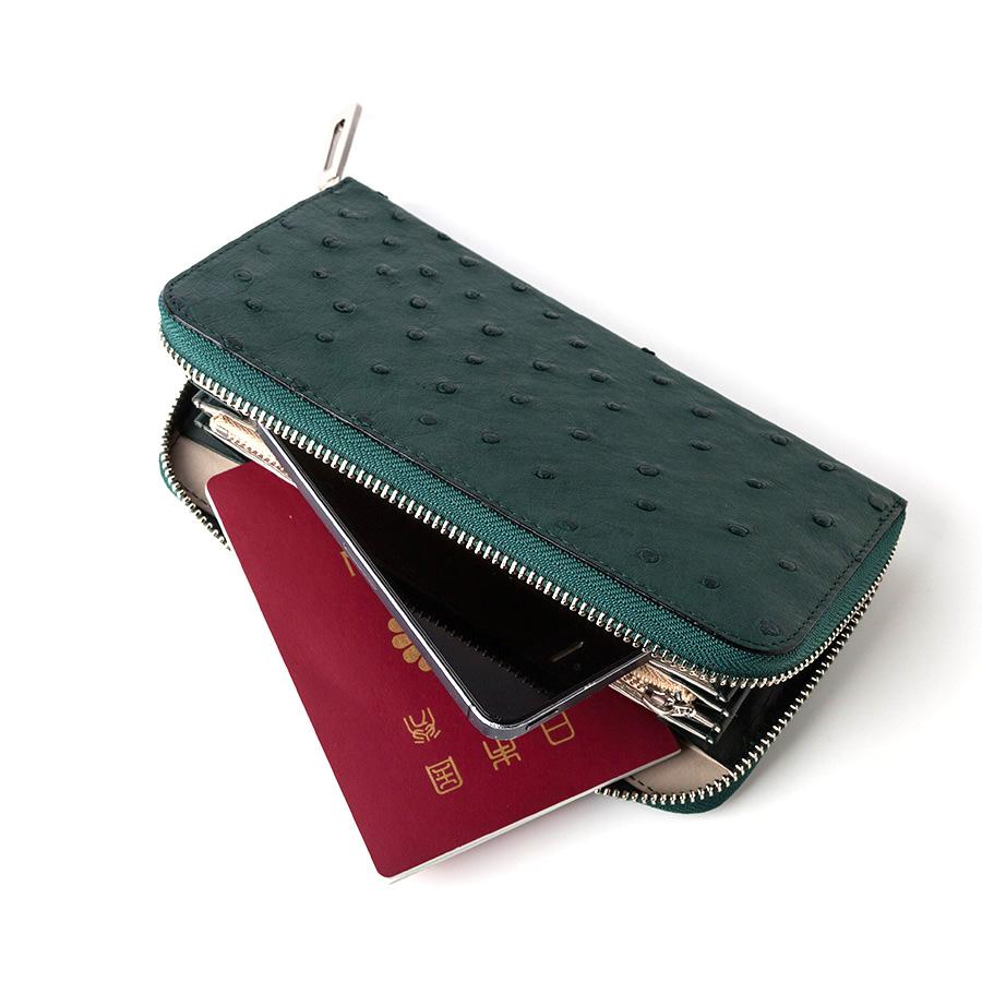 【S.sakamoto】オーストリッチフルポイント長財布