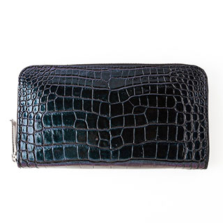 【S.sakamoto】マットクロコダイル(センター取り)長財布