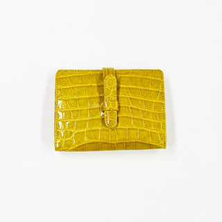 【S.sakamoto】シャイニングクロコダイル二つ折り財布