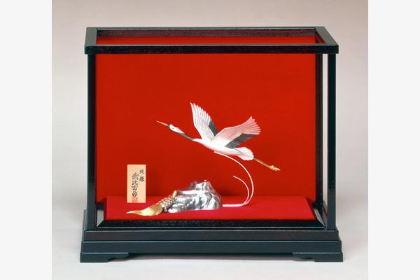 銀製置物 鶴