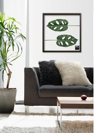 壁に飾る観葉植物。リーフパネル・リーフアートフレーム