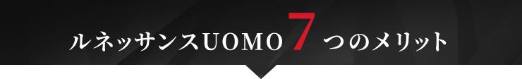 ルネッサンスUOMO 7つのメリット