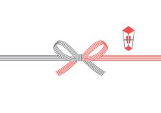 ① 紅白蝶結び(5本)