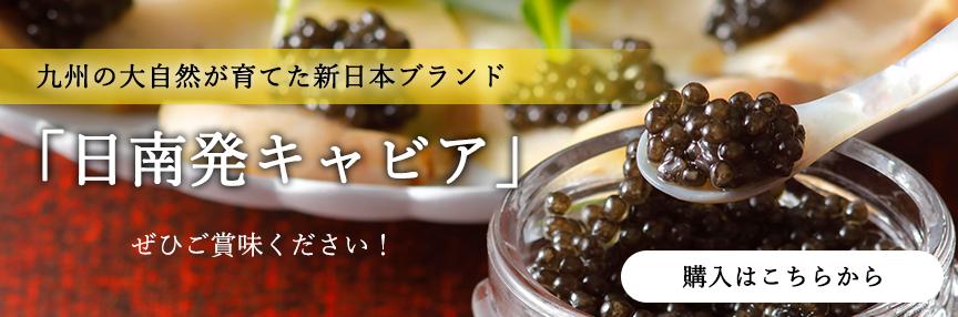 九州の大自然が育てた新日本ブランド「日南発キャビア」