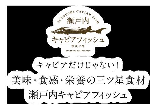 キャビアだけじゃない!美味・食感・栄養の三ツ星食材 瀬戸内キャビアフィッシュ