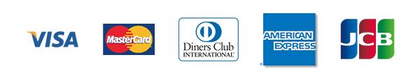 VISA・MASTER・Diners・AMEX・JCB