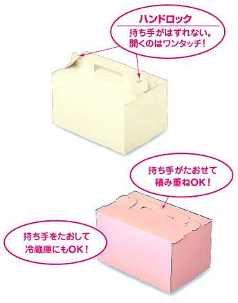 パッケージ中澤 手提げケーキ箱OPLシリーズ