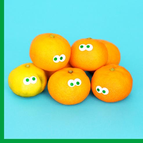 カラマンダリンの柑橘ジュース